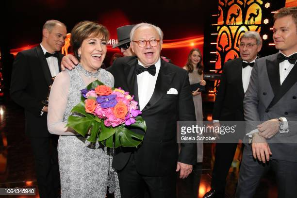 Paola Felix and Dr Hubert Burda during the Bambi Awards 2018 final applause at Stage Theater on November 16 2018 in Berlin Germany