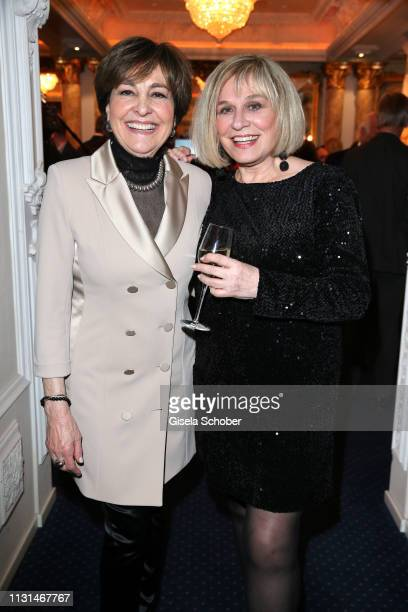 Paola Felix and Mary Roos during the celebration of Peter Kraus' 80th birthday at Schuhbecks Suedtiroler Stuben on March 18 2019 in Munich Germany