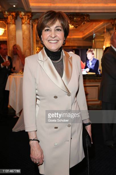 Paola Felix during the celebration of Peter Kraus' 80th birthday at Schuhbecks Suedtiroler Stuben on March 18 2019 in Munich Germany
