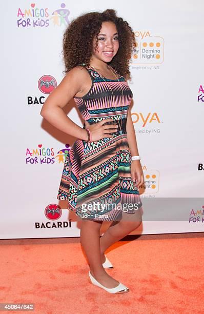 Paola Guanche attends Amigos For Kids Voya Miami Celebrity Domino Night at Jungle Island on June 14 2014 in Miami Florida
