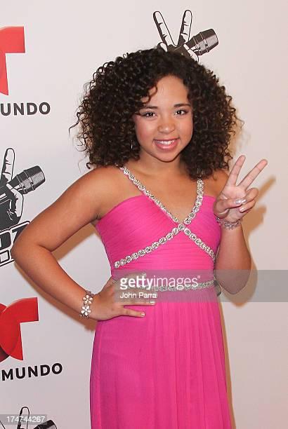 Paola Guanche attends Telemundo's La Voz Kids Finale on July 27 2013 in Miami Florida