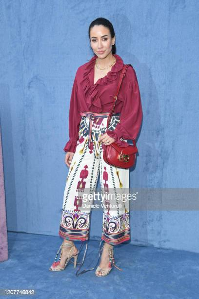 Paola Iezzi attends the Etro fashion show on February 21, 2020 in Milan, Italy.