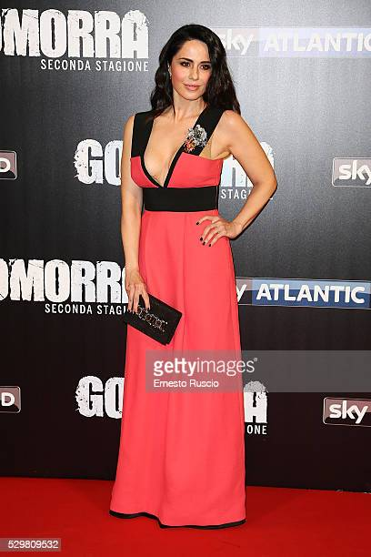 Paola Iezzi attends the 'Gomorra' Tv Show premiere at Teatro Dell'Opera on May 09, 2016 in Rome.