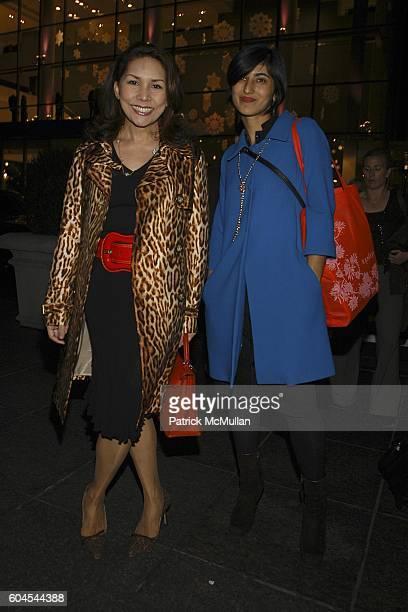 Paola Isabella Rocha Tornito and Rita Nakouzi attend LOUIS VUITTON presents OLAFUR ELIASSON at LOUIS VUITTON on Fifth Avenue on November 9 2006 in...