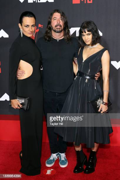 Paola Kudacki, Dave Grohl, and Sofia Boutella attend the 2021 MTV Video Music Awards at Barclays Center on September 12, 2021 in the Brooklyn borough...