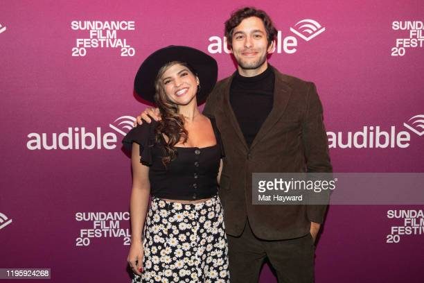 Paola Lazaro and Alex Koch attend the Black Bear Premiere party at the Audible Speakeasy on January 24 2020 in Park City Utah