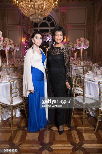 Paola Mainetti and Marisela Federici attend the wedding of Earl Vittorio Palazzi Trivelli And Isabelle Adriani on February 22 2020 in Rome Italy