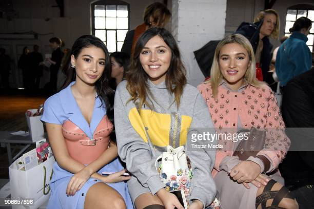Paola Maria Anna Maria Damm and Katharina Damm during the Marina Hoermanseder Defile during 'Der Berliner Salon' AW 18/19 at Von Greifswald on...