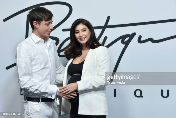 Paola Maria Koslowski and her husband Sascha during the launch of Beetique by Dagi Bee at Spindler Klatt on November 29 2018 in Berlin Germany