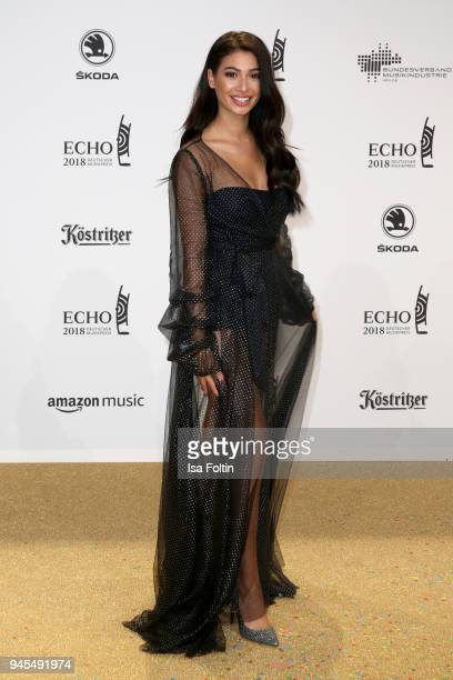 Paola Maria Koslowski arrives for the Echo Award at Messe Berlin on April 12 2018 in Berlin Germany