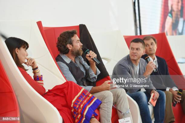 Paola Maugeri Alessio Boni Massimo Sideri and Francesco Cecchetti attend FuoriCinema on September 17 2017 in Milan Italy