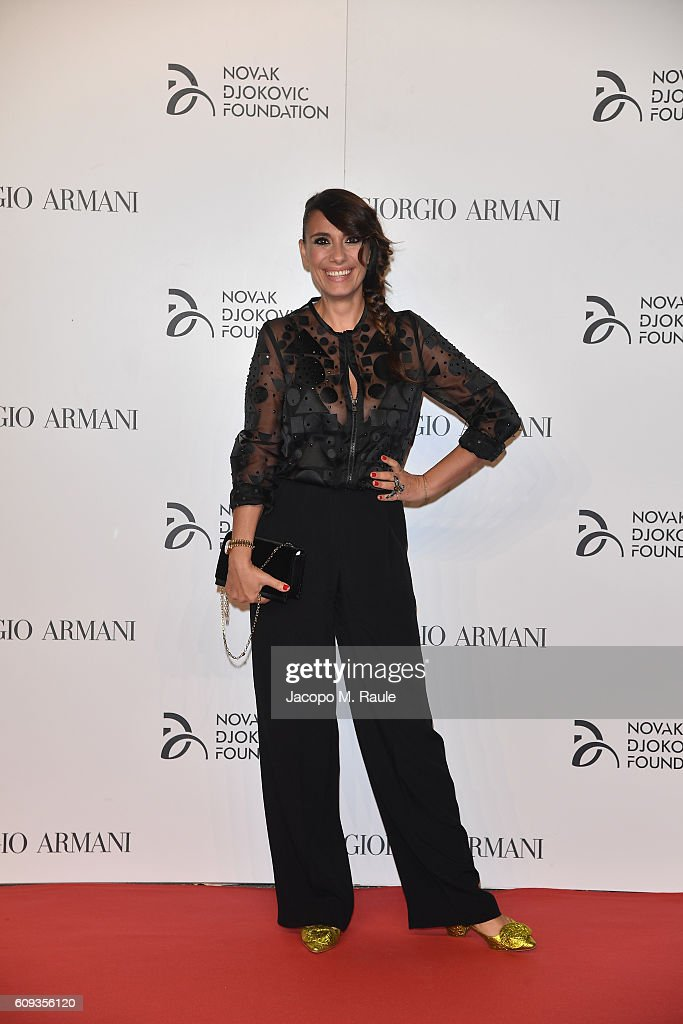 Paola Maugeri attends the Milano Gala Dinner benefitting the Novak Djokovic Foundation presented by Giorgio Armani at Castello Sforzesco on September 20, 2016 in Milan, Italy.
