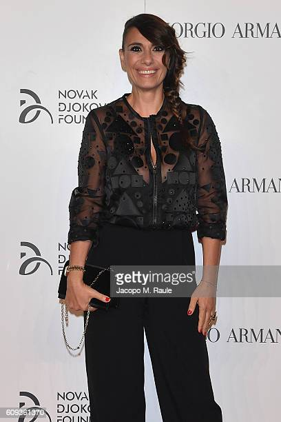 Paola Maugeri attends the Milano Gala Dinner benefitting the Novak Djokovic Foundation presented by Giorgio Armani at Castello Sforzesco on September...