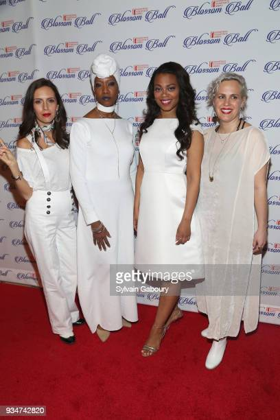 Paola Mendoza Zakiyah Ansari Meah Pace and Ginny Suss attend The Endometriosis Foundation of America Celebrates their 9th Annual Blossom Ball...