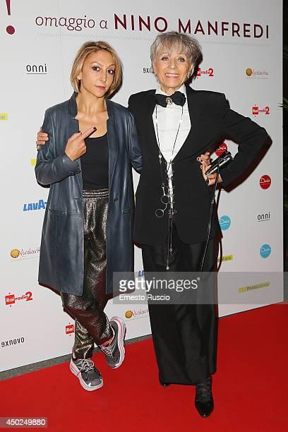 Paola Minaccioni and Erminia Ferrari attend the Homage To Nino Manfredi photocall at Auditorium della Conciliazione on June 7 2014 in Rome Italy