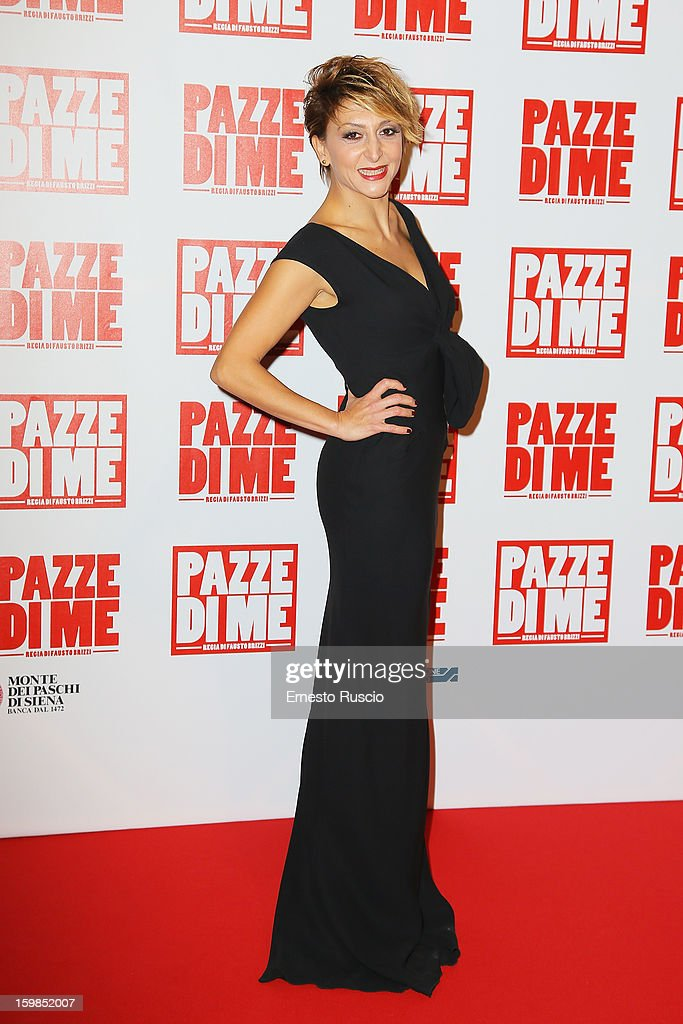 Paola Minaccioni attends the 'Pazze di Me' premiere at Teatro Sistina on January 21, 2013 in Rome, Italy.