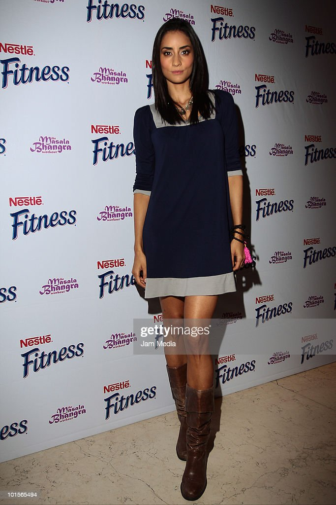 Paola Nunez poses for a photo during the presentation of Bhangra Masala Workout for Nestle Fitness at Joy Room on June 2, 2010 in Mexico City, Mexico.
