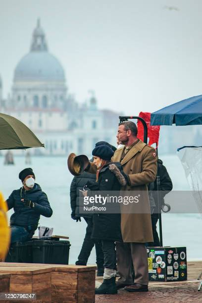 Paola Ortiz and Liev Schreiber shooting of the film Across the River and into the Trees, by director Paola Ortiz and starring actors such as Liev...