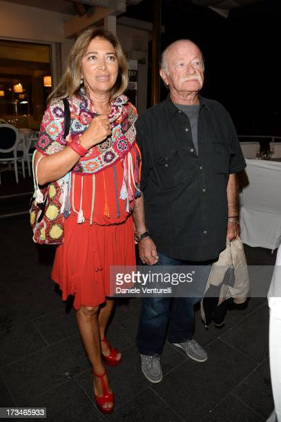 Paola Penzo and Gino Paoli attend Day 2 of the 2013 Ischia Global Fest on July 14 2013 in Ischia Italy