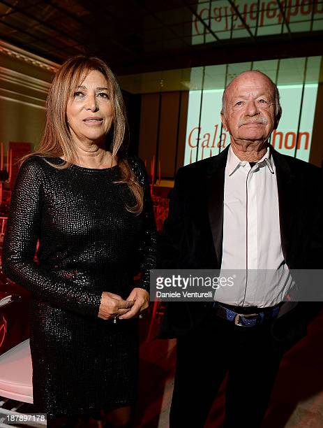 Paola Penzo and Gino Paoli attend the Gala Telethon 2013 Roma during The 8th Rome Film Festival on November 13, 2013 in Rome, Italy.