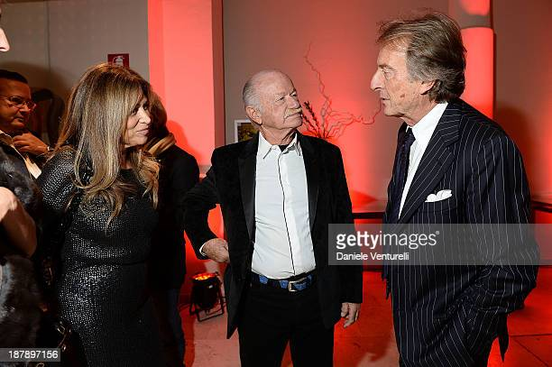 Paola Penzo Gino Paoli and Luca Cordero di Montezemolo attend the Gala Telethon 2013 Roma during The 8th Rome Film Festival on November 13 2013 in...