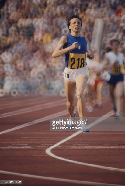 Paola Pigni competing in the Women's 1500 metres event at the 1972 Summer Olympics / the Games of the XX Olympiad Olympiastadion