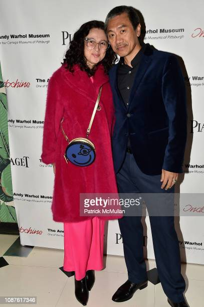 Paola Pivi and Guest attend The Andy Warhol Museum's Annual NYC Dinner at Indochine on November 12 2018 in New York City