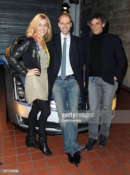Paola Porrini Edoardo Ponti and Enrico Lo Verso attend the Narrative Meet And Greet at the Tribeca Film Festival Press Office during the 2013 Tribeca...