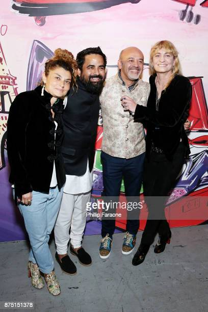 Paola Russo Sabyasachi Christian Louboutin and Victoria Niarchos attend Christian Louboutin and Sabyasachi Unveil Capsule Collection at Just One Eye...