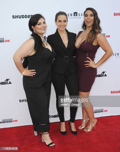 Paola Silva and Gigi Saul Guerrero attend the 6th Annual Etheria Film Showcase held at American Cinematheque's Egyptian Theatre on June 29 2019 in...