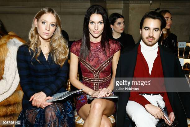 Paola Turani and some guests attend the Georges Hobeika Haute Couture Spring Summer 2018 show as part of Paris Fashion Week on January 22 2018 in...