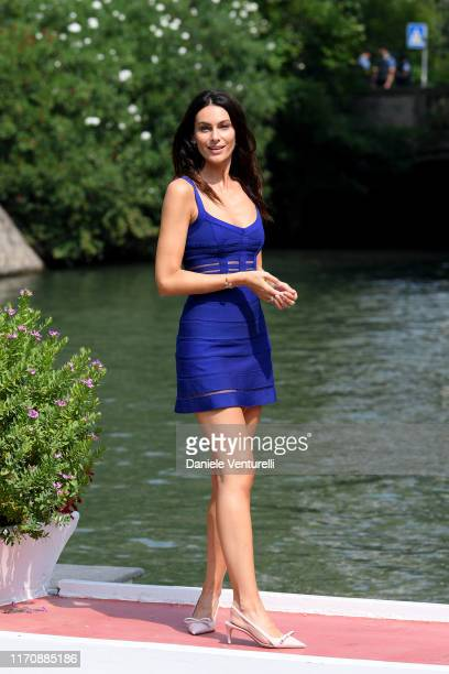Paola Turani arrives at the 76th Venice Film Festival on August 29 2019 in Venice Italy
