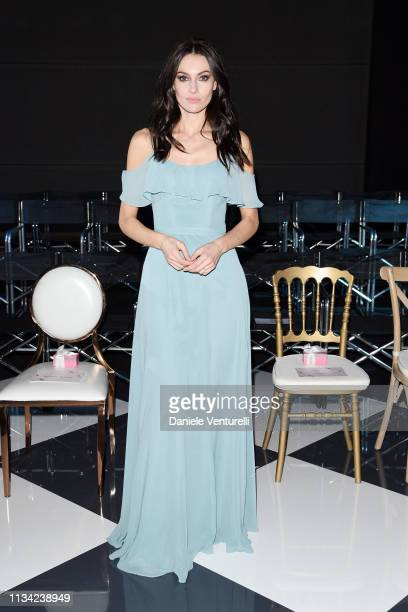 Paola Turani attends Atelier EME Fashion Show on March 07 2019 in Verona Italy