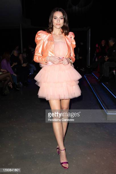 Paola Turani attends the Aniye By Fashion show at Magazzini Generali on January 20 2020 in Milan Italy