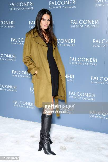 Paola Turani attends the Falconeri fashion show on September 11 2019 in Verona Italy