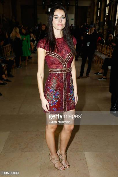 Paola Turani attends the Georges Hobeika Haute Couture Spring Summer 2018 show as part of Paris Fashion Week on January 22 2018 in Paris France
