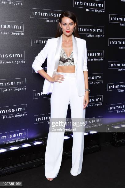 Paola Turani attends the Intimissimi Show on September 5 2018 in Verona Italy
