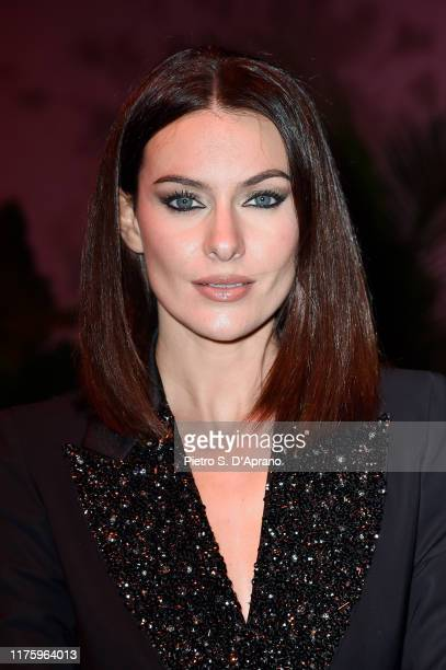 Paola Turani attends the Luisa Spagnoli fashion show during the Milan Fashion Week Spring/Summer 2020 on September 20 2019 in Milan Italy