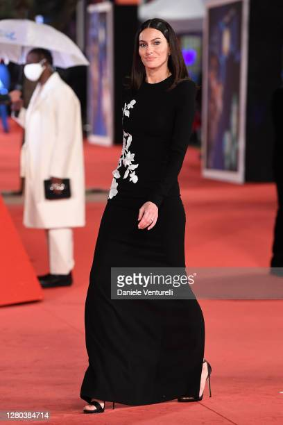Paola Turani attends the red carpet of the movie Soul during the 15th Rome Film Festival on October 15 2020 in Rome Italy
