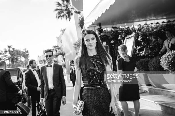 Paola Turani departs the Martinez Hotel on May 24 2017 in Cannes France