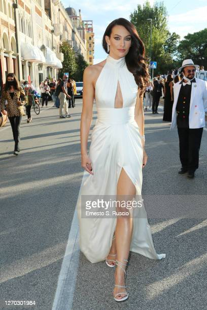 Paola Turani is seen arriving at the 77th Venice Film Festival on September 02 2020 in Venice Italy