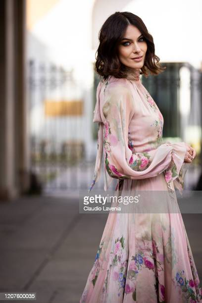 Paola Turani is seen outside Luisa Beccaria fashion show during Milan Fashion Week Fall/Winter 20202021 on February 20 2020 in Milan Italy