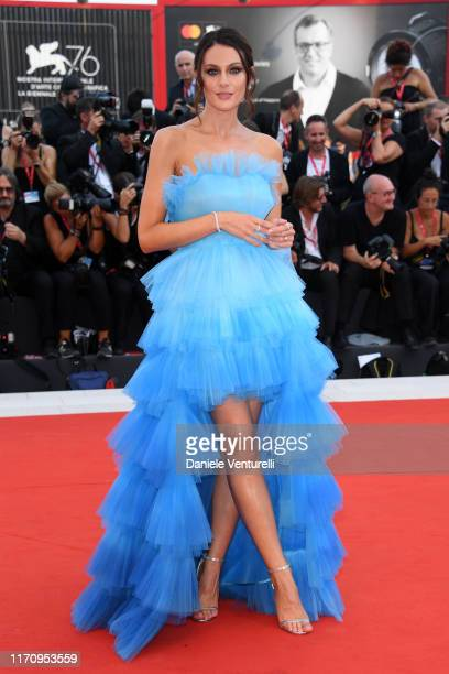 """Paola Turani walks the red carpet ahead of the """"Marriage Story"""" screening during during the 76th Venice Film Festival at Sala Grande on August 29,..."""