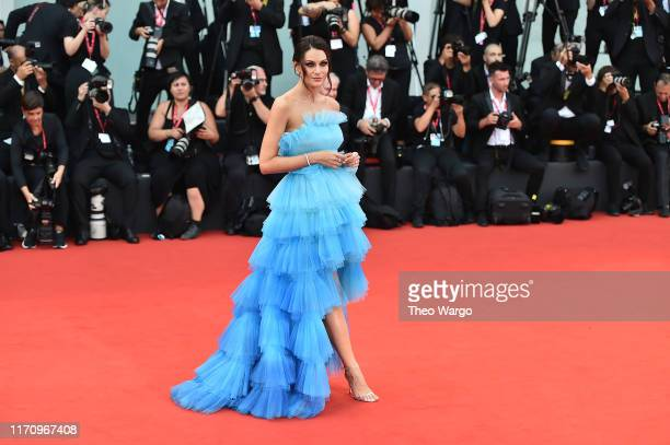Paola Turani walks the red carpet ahead of the Marriage Story screening during during the 76th Venice Film Festival at Sala Grande on August 29 2019...