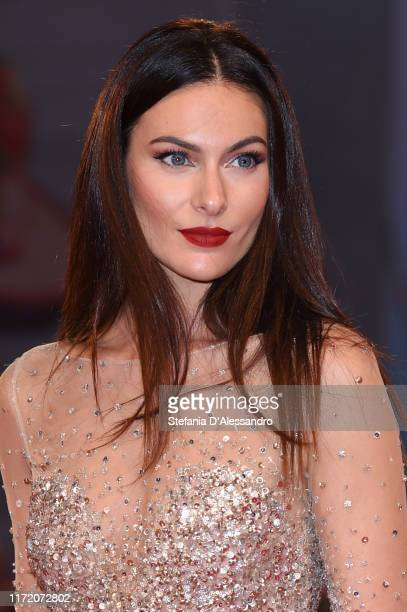 Paola Turani walks the red carpet ahead of the Om Det Oandliga screening during the 76th Venice Film Festival at Sala Grande on September 03 2019 in...