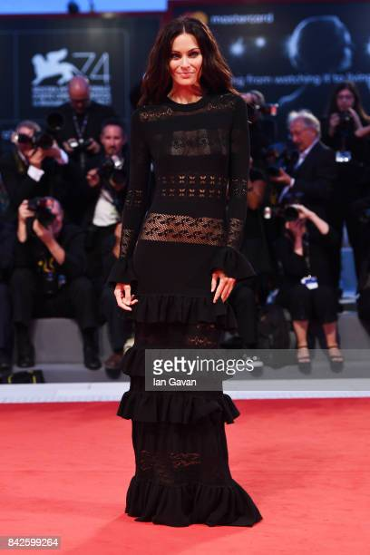 Paola Turani walks the red carpet wearing a JaegerLeCoultre watch ahead of the 'Three Billboards Outside Ebbing Missouri' screening during the 74th...