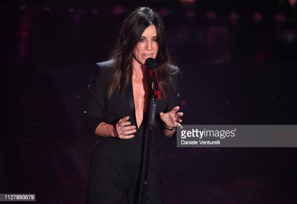 Paola Turci on stage during the second night of the 69th Sanremo Music Festival at Teatro Ariston on February 06 2019 in Sanremo Italy