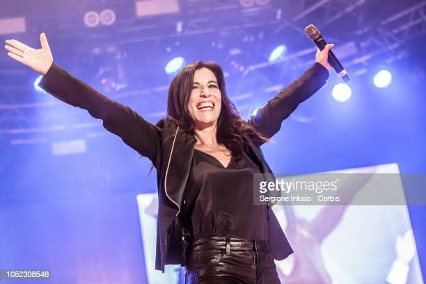 Paola Turci performs on stage at Fabrique Club for JAx on October 16 2018 in Milan Italy