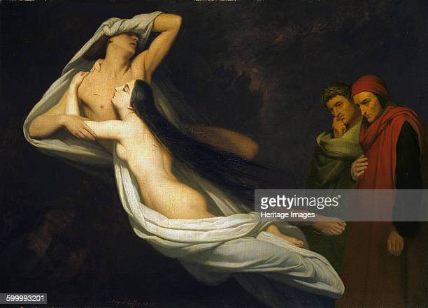 Paolo and Francesca, 1854. Found in the collection of Kunsthalle, Hamburg. Artist : Scheffer, Ary .