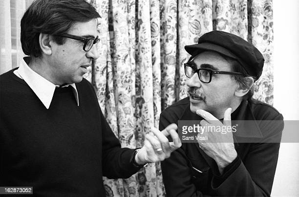 Paolo and Vittorio Taviani posing for a portrait on December 15 1977 in New York New York